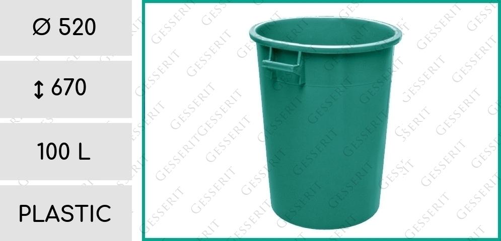 garbage lid bin green 100 liter kunststoff gr n m lleimer abfallbeh lter abfallsammler. Black Bedroom Furniture Sets. Home Design Ideas
